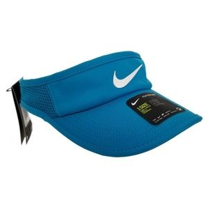 NIKE Featherlight Tennis Visor Turquoise M122 NEW